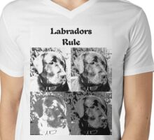 Labradors Rule Mens V-Neck T-Shirt