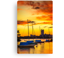 Anchored in gold Canvas Print