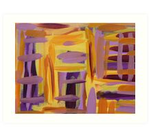 Purple and Yellow Art Print