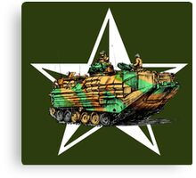 Amphibious Marines APC Canvas Print