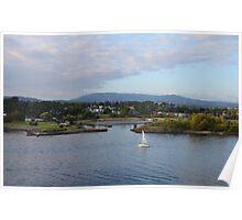 Tiny Norwegian Harbor Poster