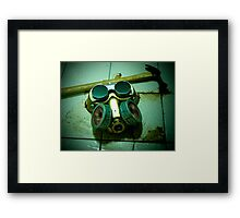 Dark Steampunk Gas Mask and Goggles Framed Print