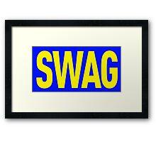 Swag Framed Print