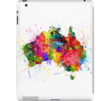 Australia Paint Splashes Map iPad Case/Skin