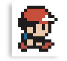 Ash Ketchum - Pokemon - Pixel Canvas Print