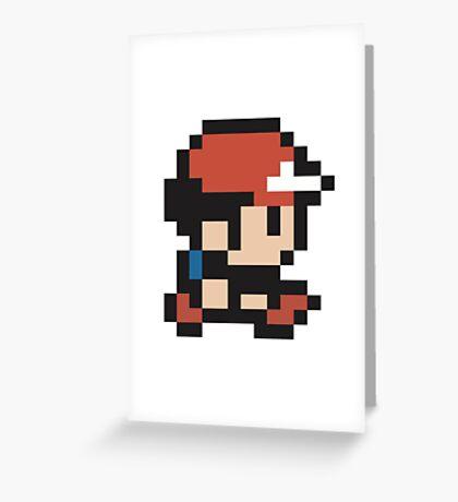 Ash Ketchum - Pokemon - Pixel Greeting Card