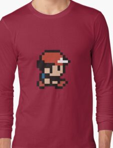 Ash Ketchum - Pokemon - Pixel Long Sleeve T-Shirt