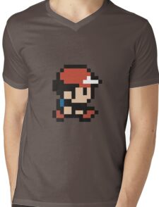 Ash Ketchum - Pokemon - Pixel Mens V-Neck T-Shirt