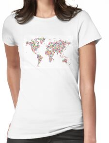 Stars Map of the World Map Womens Fitted T-Shirt