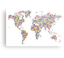 Stars Map of the World Map Metal Print