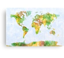 Map of the World Watercolour Metal Print