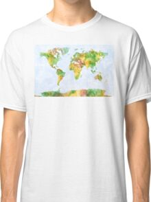 Map of the World Watercolour Classic T-Shirt