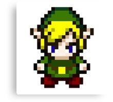 Zelda - Pixel Canvas Print