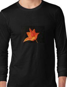 T Shirt Orange Flower  Long Sleeve T-Shirt