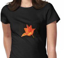 T Shirt Orange Flower  Womens Fitted T-Shirt