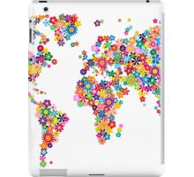 Flowers Map of the World Map iPad Case/Skin