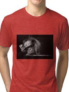 Sleeping Chimpanzee Tri-blend T-Shirt