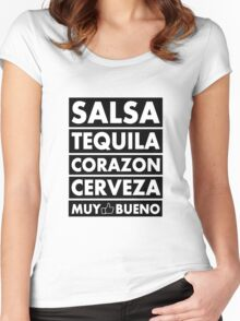 Salsa Tequila Corazon.. Women's Fitted Scoop T-Shirt
