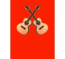 Double acoustic Guitar heart Photographic Print