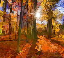 Brilliant, Colorful Autumn Forest Impression by Georgia Mizuleva