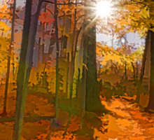 Brilliant, Colorful Autumn Forest Impression Sticker