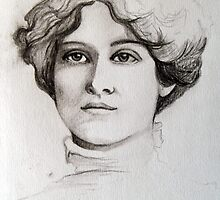 Edwardian Lady Sketch  by Artway
