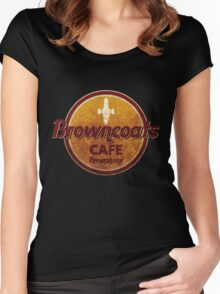 BROWNCOATS CAFE Women's Fitted Scoop T-Shirt