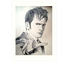 The Tenth Doctor Sketch Art Print