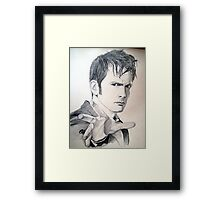The Tenth Doctor Sketch Framed Print