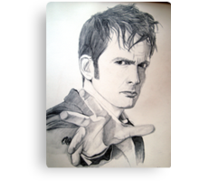 The Tenth Doctor Sketch Canvas Print