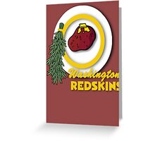 Potato Redskins Greeting Card