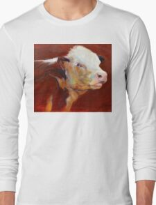 Fillion, ( cow ) from original oil painting by Madeleine Kelly Long Sleeve T-Shirt