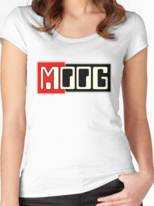 Moog  Synth WBR  Women's Fitted Scoop T-Shirt