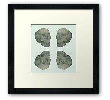 Four Empty Skulls Framed Print
