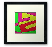 Abstract COLOR BLOCK design Framed Print