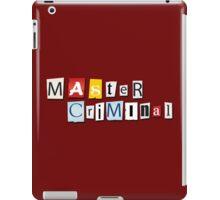 Master Criminal iPad Case/Skin
