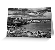Indian Harbour - B&W Greeting Card