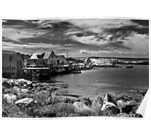 Indian Harbour - B&W Poster