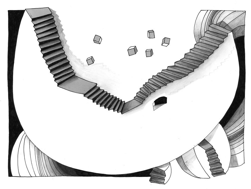 Halbmondtreppe / Halfmoon Stairway  by AnnetteMuse