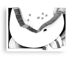 Halbmondtreppe / Halfmoon Stairway  Canvas Print