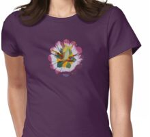 Tulip detail Womens Fitted T-Shirt