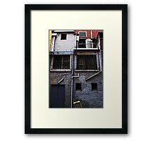 Behind the Facade Framed Print