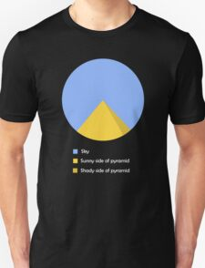 Sunny side of pyramid. (white) T-Shirt