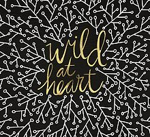 Wild at Heart – Gold on Black by Cat Coquillette