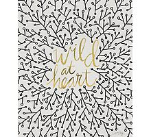 Wild at Heart – Gold & Black on White Photographic Print