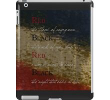 Les Mis-Red & Black  iPad Case/Skin