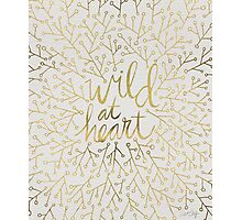 Wild at Heart – Gold on White Photographic Print