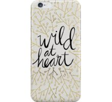 Wild at Heart – Gold Branches on White iPhone Case/Skin