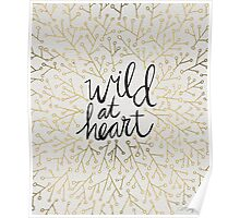 Wild at Heart – Gold Branches on White Poster