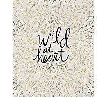 Wild at Heart – Gold Branches on White Photographic Print